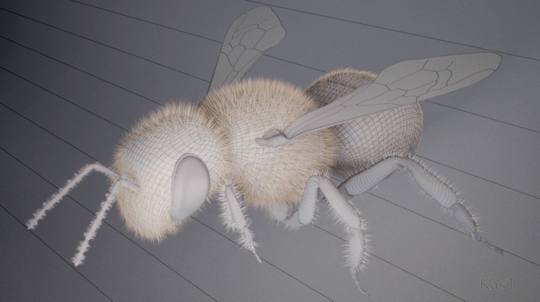 imagen de abeja en 3d max vray