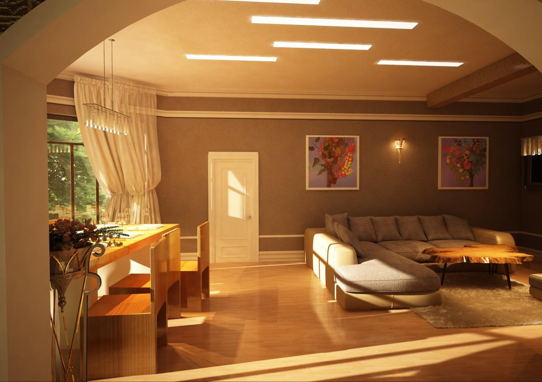 House in Tbilisi. Architect Sergo Shelestov in Cinema 4d vray image