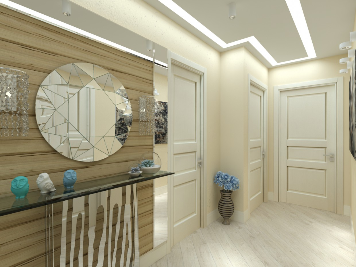Entrance hall in 3d max vray 2.0 image