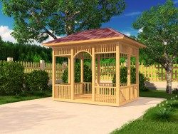 A simple rectangular gazebo..