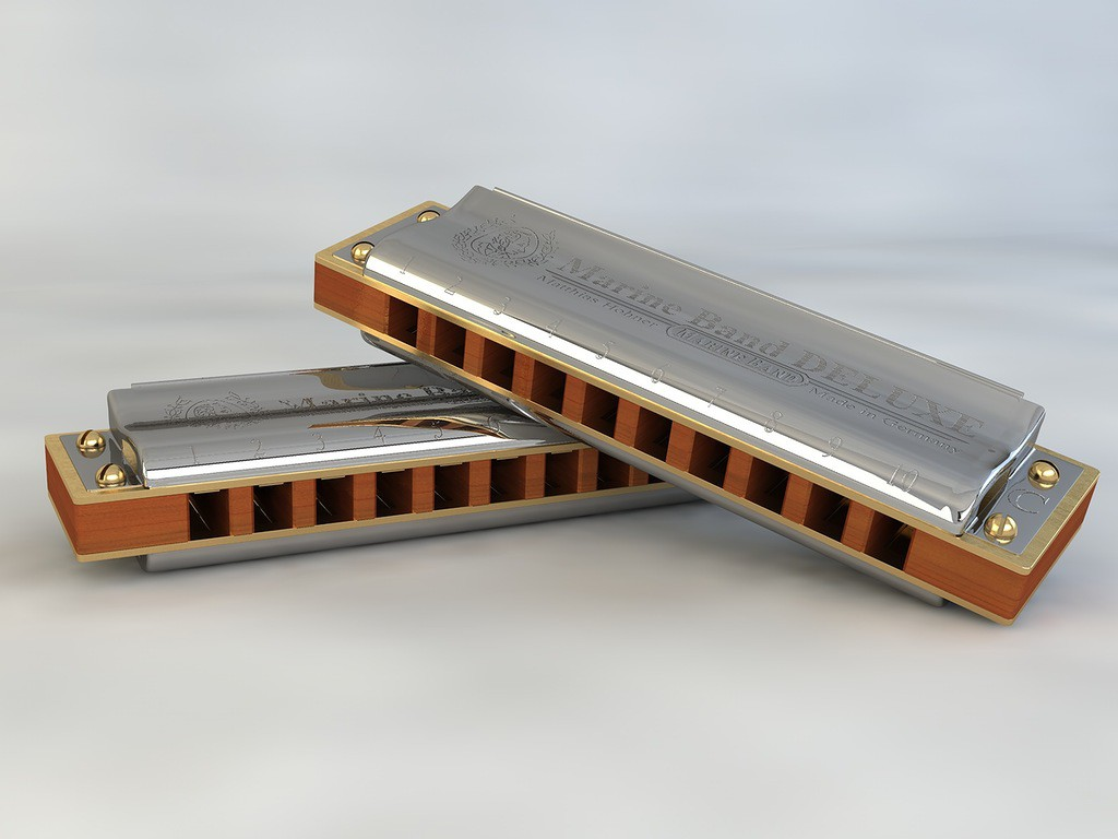 3d visualization of the project in the Harmonica HOHNER Cinema 4d, render Other of Lubomir88