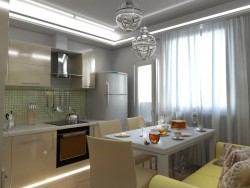 One bedroom apartment in Tver. Kitchen