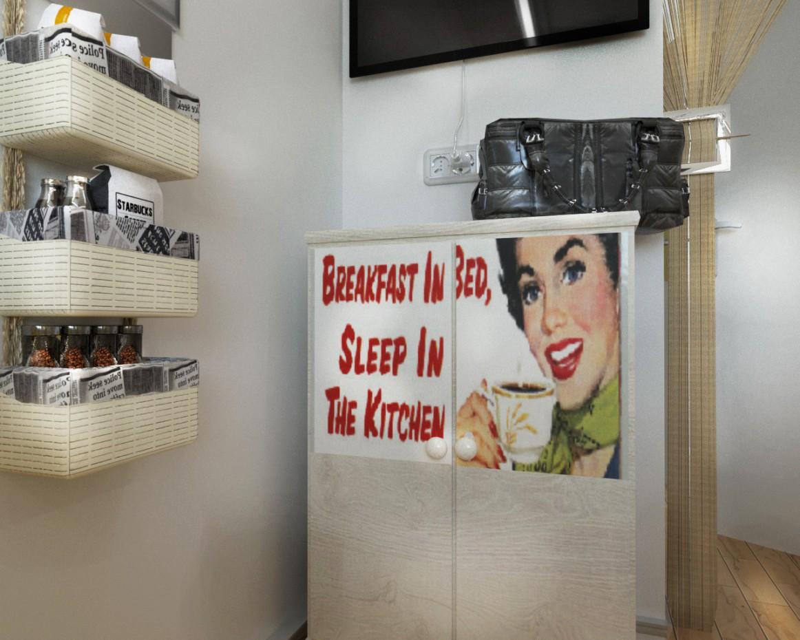 imagen de Apartamento de un dormitorio en Tver. Cocina en Cinema 4d corona render