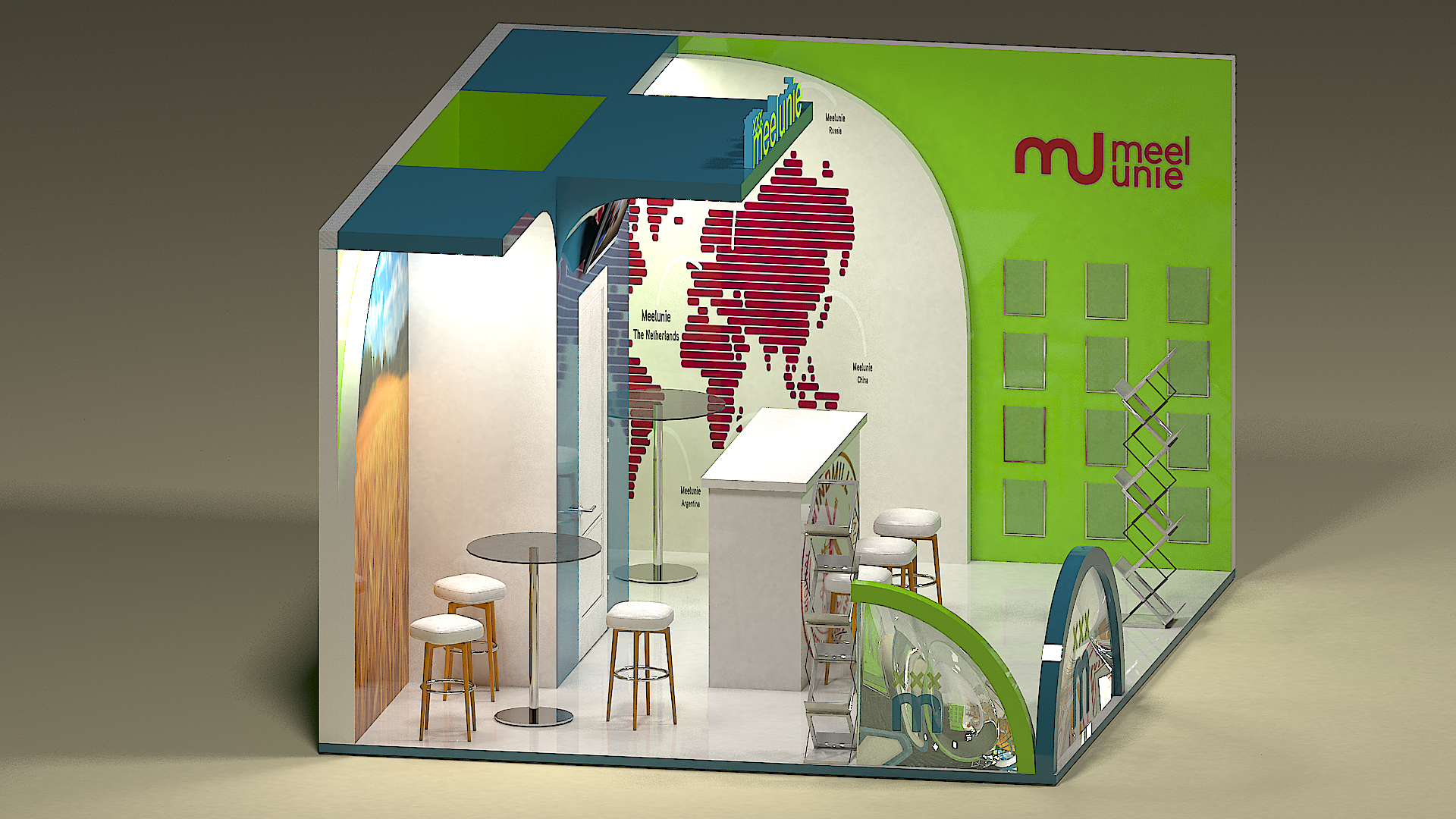 exhibition stand in 3d max vray 3.0 image