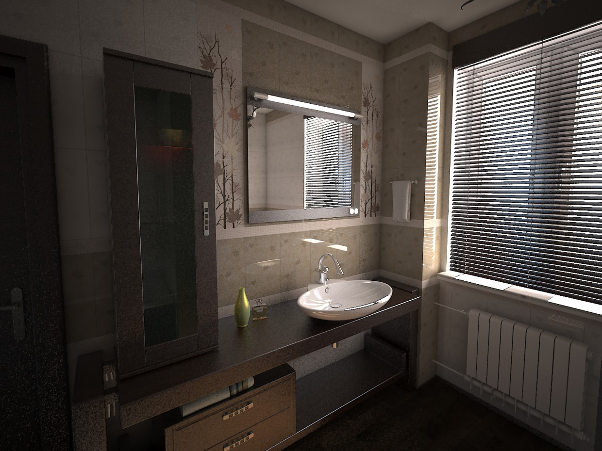 Bathroom tiles Hyde Park in 3d max vray image