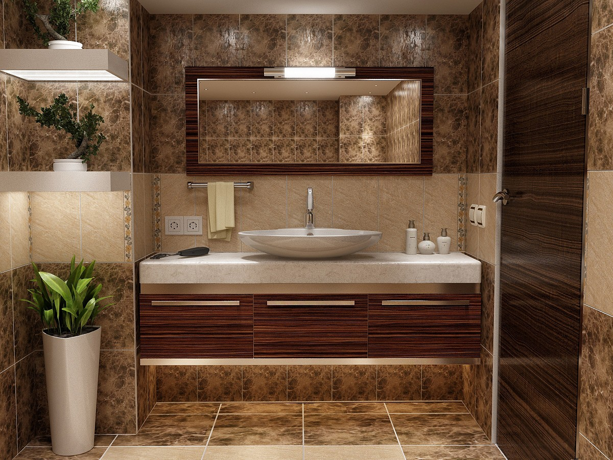 Туалет в 3d max vray 2.5 изображение