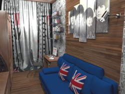 Teenager boy room