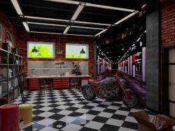 projeto de design de garagem