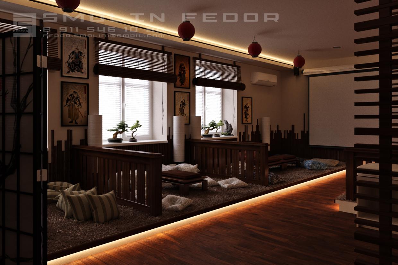 Проект чайного кинотеатра/The project of the tea theater in 3d max corona render image