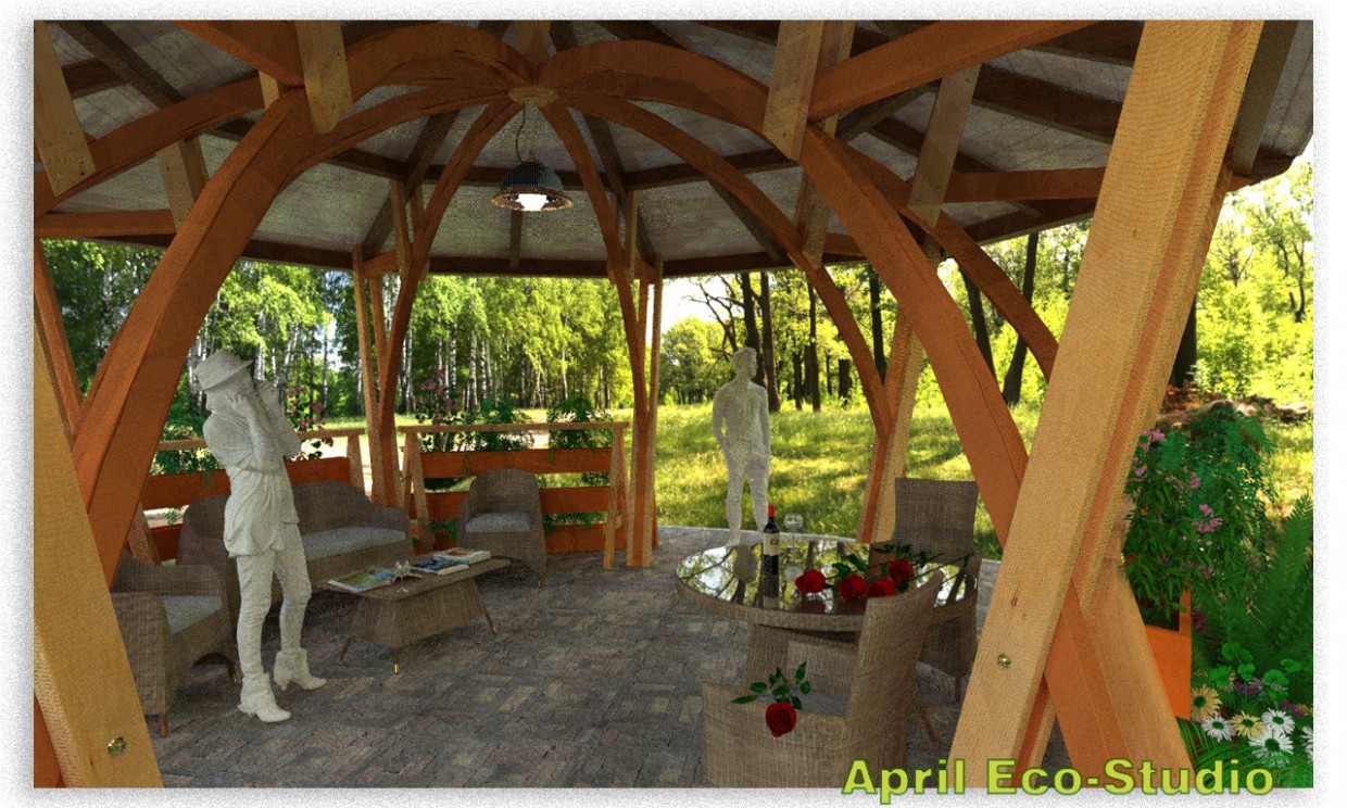 3d visualization of the project in the Shadow gazebo d6,4 AutoCAD, render Other of Aleksey_Aleksandrovich