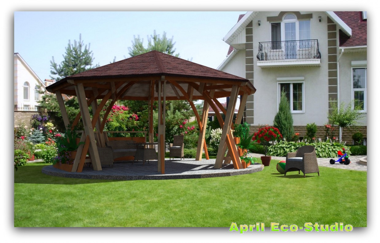 Shadow gazebo d6,4 in AutoCAD Other image