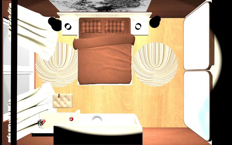 imagen de Dormitorio en 3d max mental ray