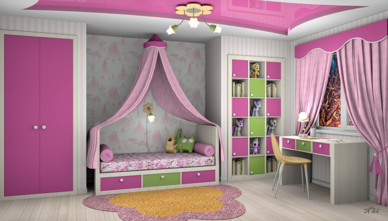Children's room for a girl in Other thing Other image