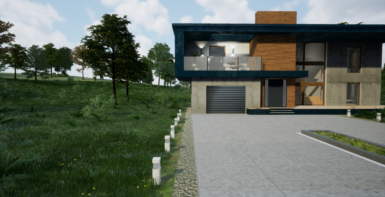 Architectural Visualization with UE 4 - Summer House in 3d max Other image