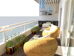 varanda terraço Bermúdez