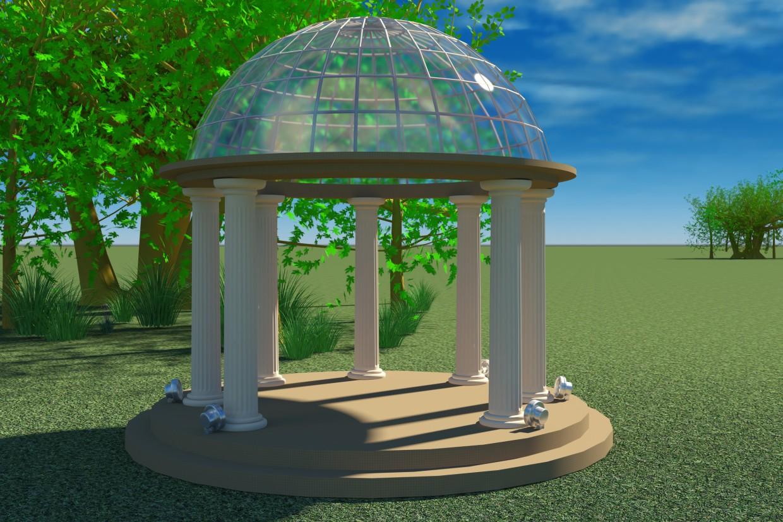 The Rotunda  in  3d max   vray  image