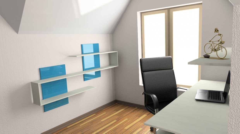 3d візуалізація проекту Дитяча кімната (2 поверх, мансардний) в 3d max, рендер vray 2.5 від МАКСИМ74