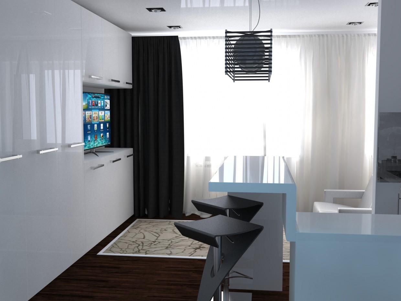 imagen de Apartamento de una habitación en 3d max vray