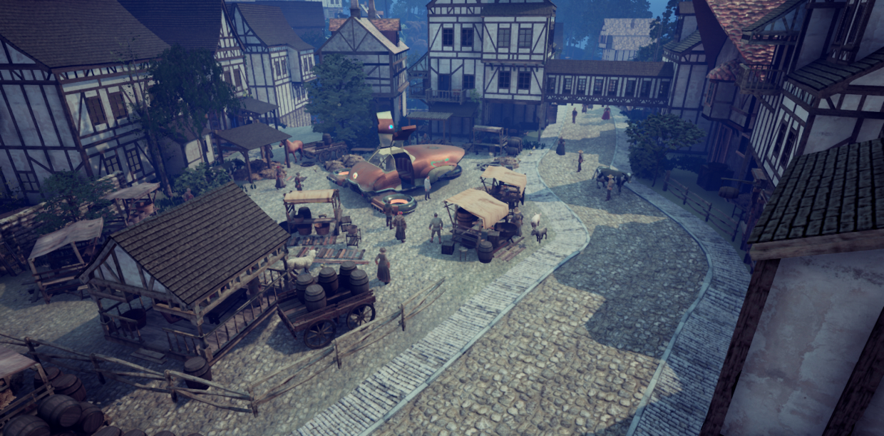 Medieval Town with Unreal Engine 4 and Time Machine in 3d max Other image