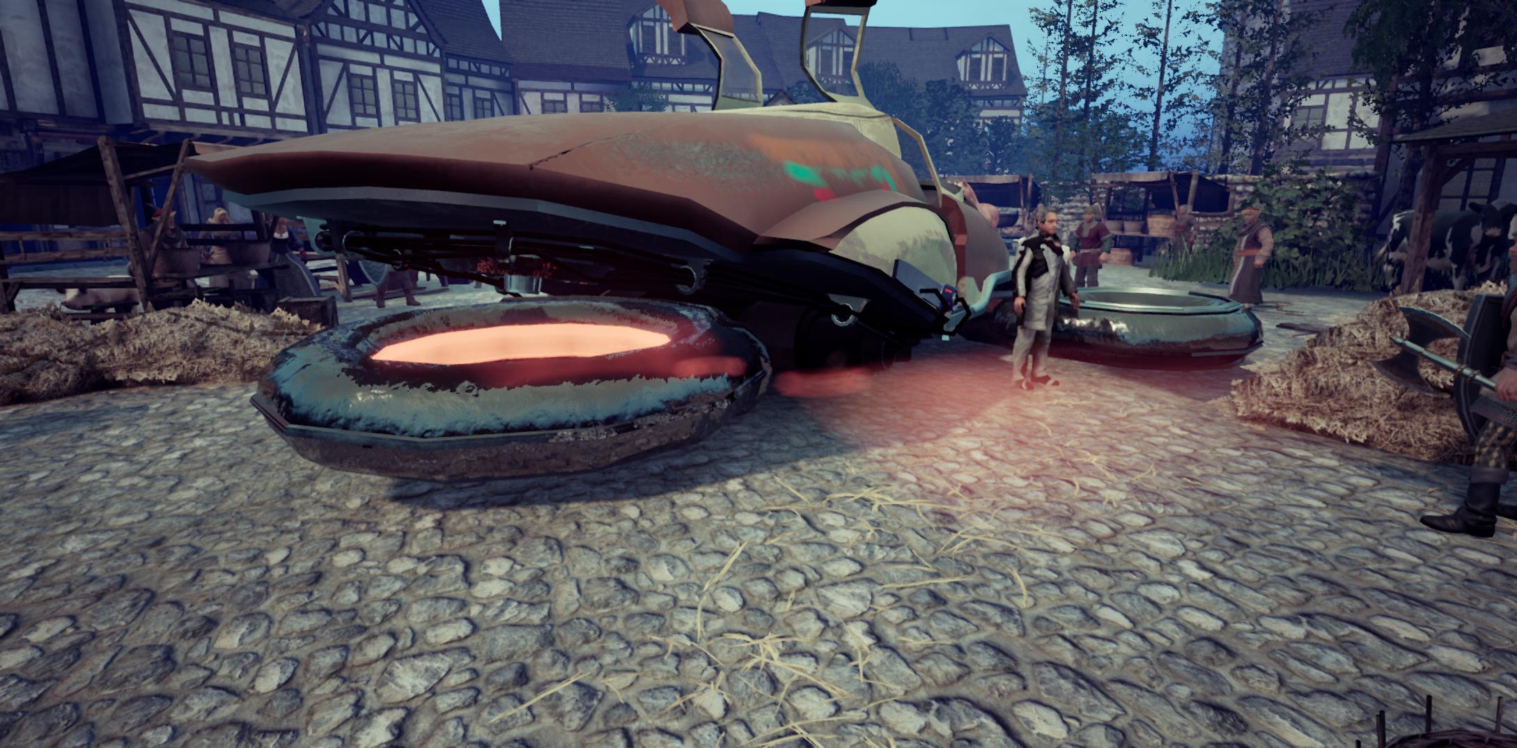 अवास्तविक इंजन 4 और टाइम मशीन के साथ मध्यकालीन शहर 3d max Other में प्रस्तुत छवि