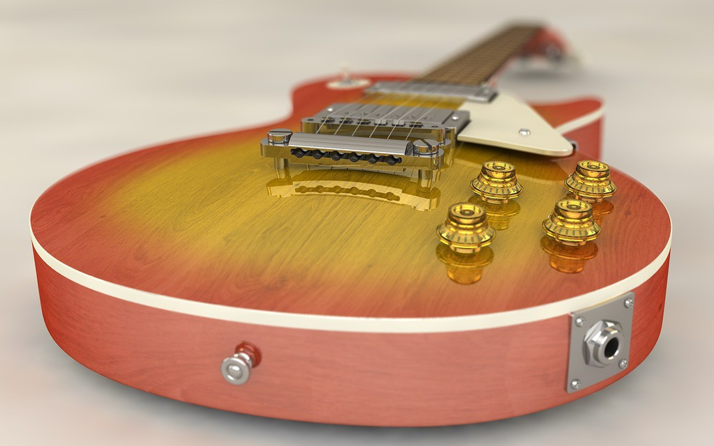 visualización 3D del proyecto en el Electro guitarra GIBSON Les_Paul Cinema 4d render Other Lubomir88