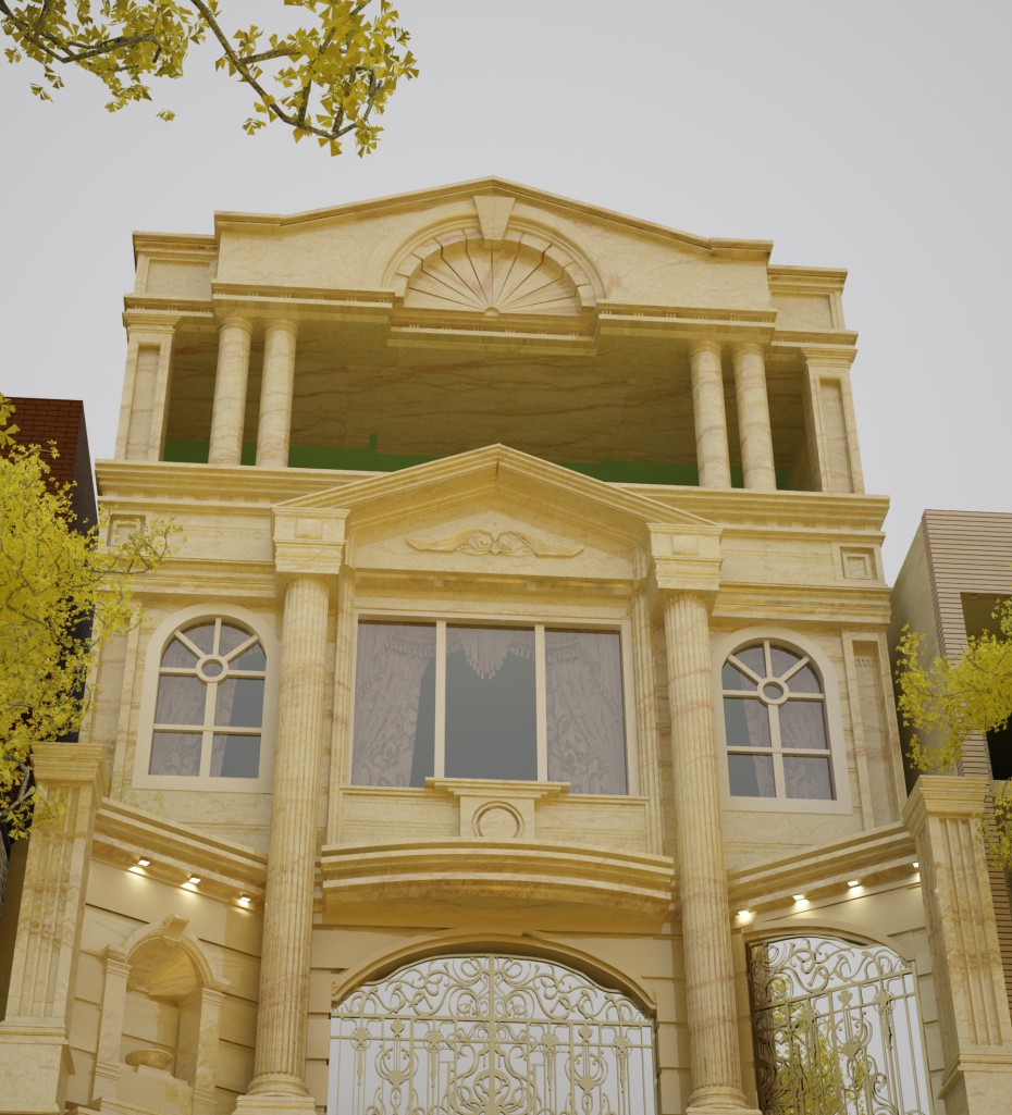 3d visualization of the project in the Roma Residence 3d max, render vray of Meissam.khosravi