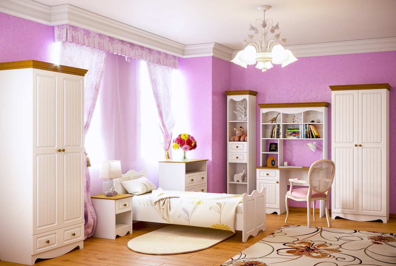Nursery in modern classics. in 3d max corona render image