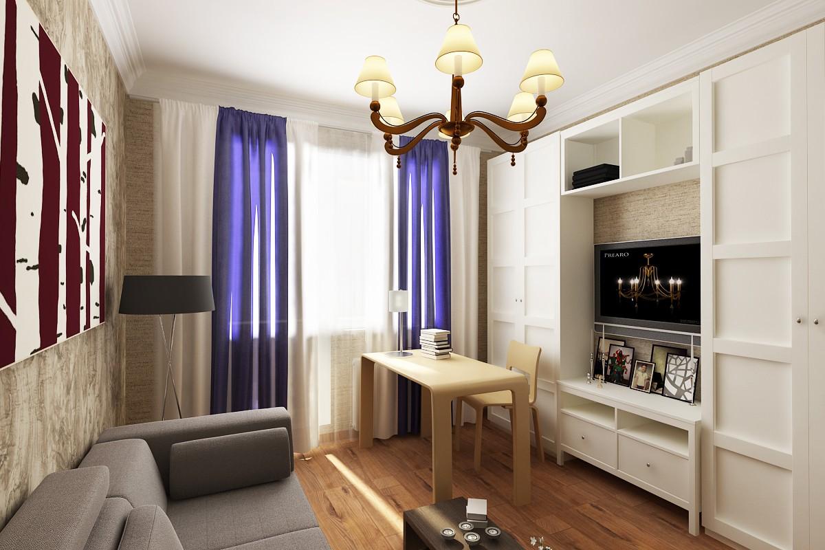 Kabinet_v_kvartire в 3d max vray изображение