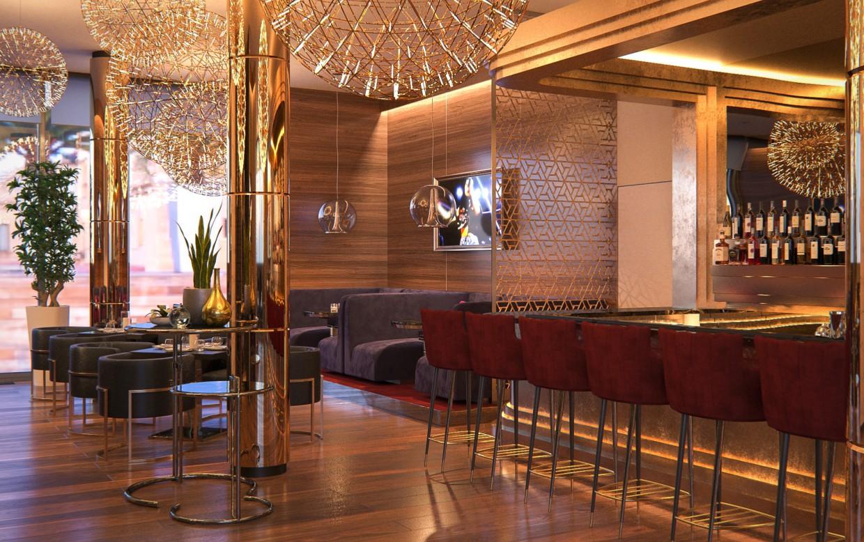 Lounge zone in 3d max corona render image
