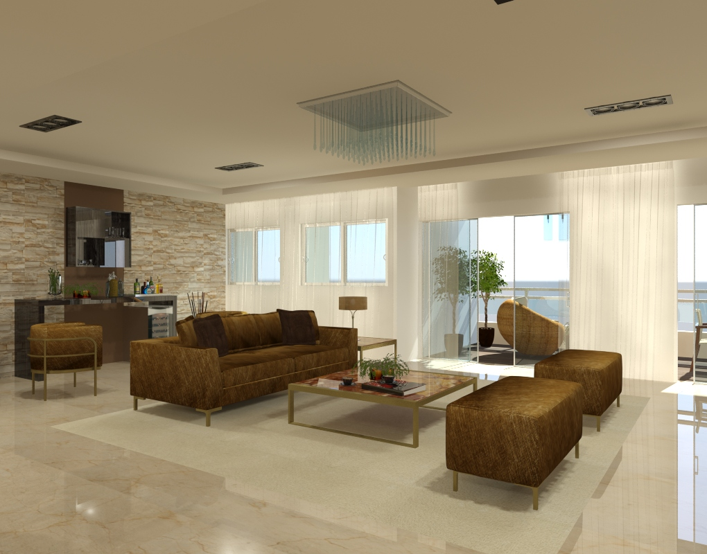 render living design arqshio in 3d max mental ray image