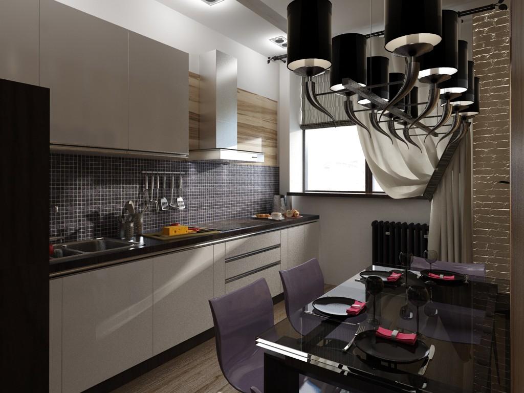 imagen de Zonificación: Living comedor, cocina en 3d max vray