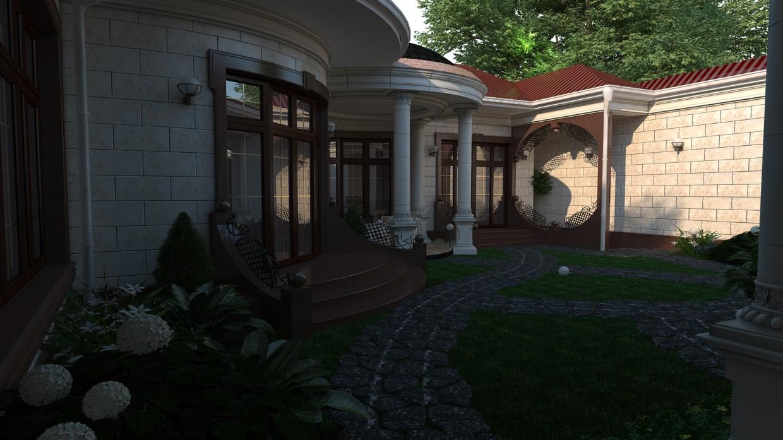 UZ style in 3d max vray image
