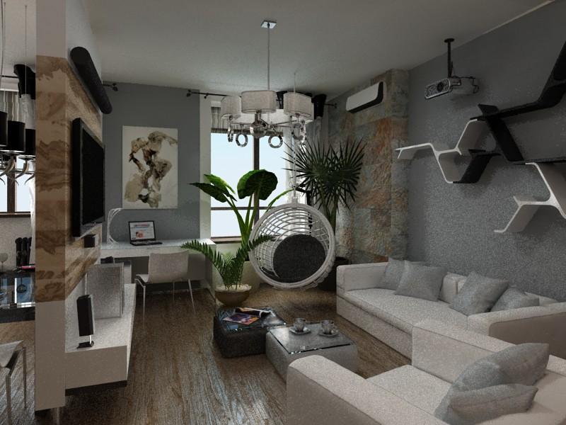 Living room design and visualization for Room decor visualizer