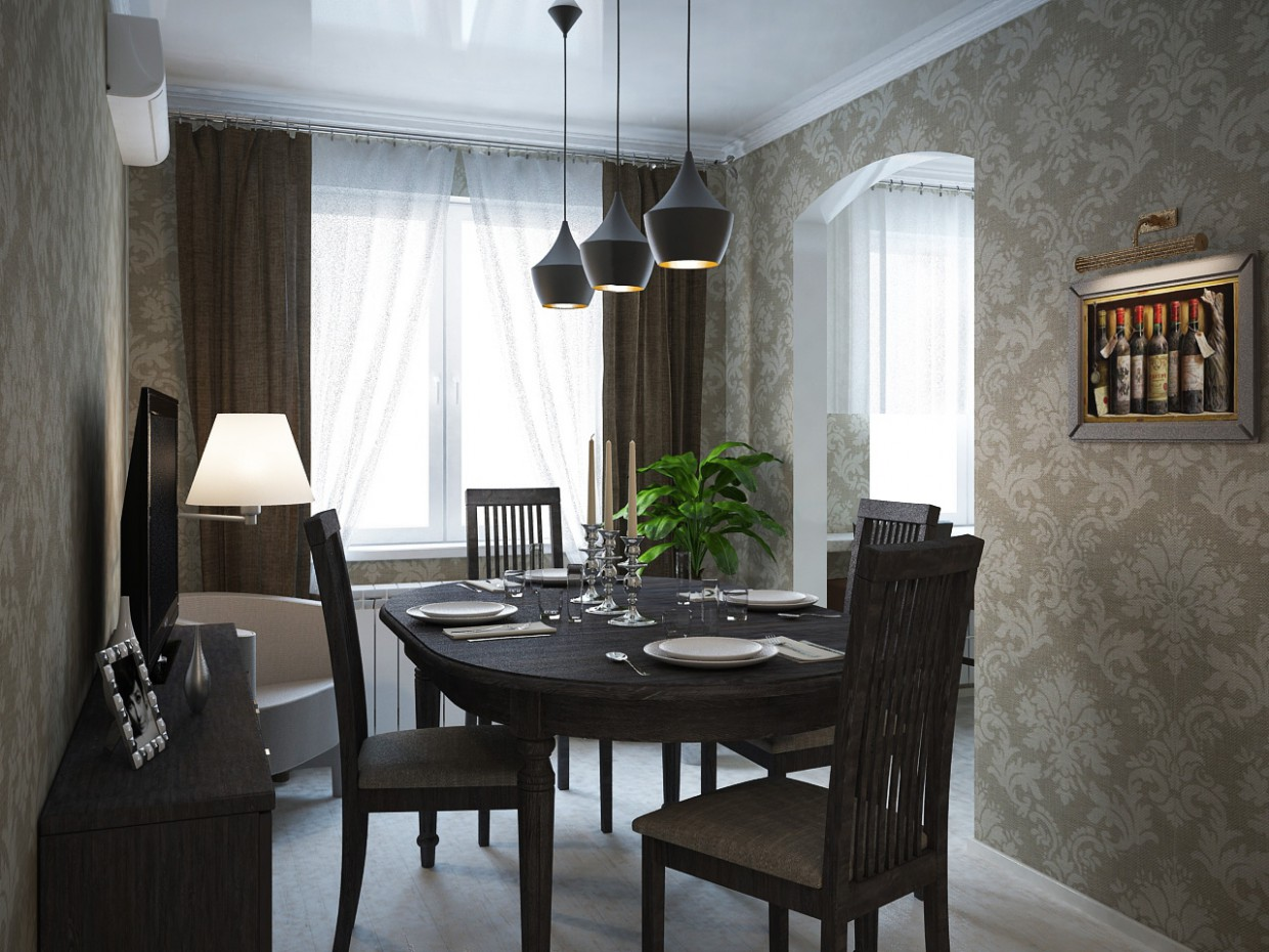 3d visualization of the project in the Room 3d max, render vray of Урсу Игорь