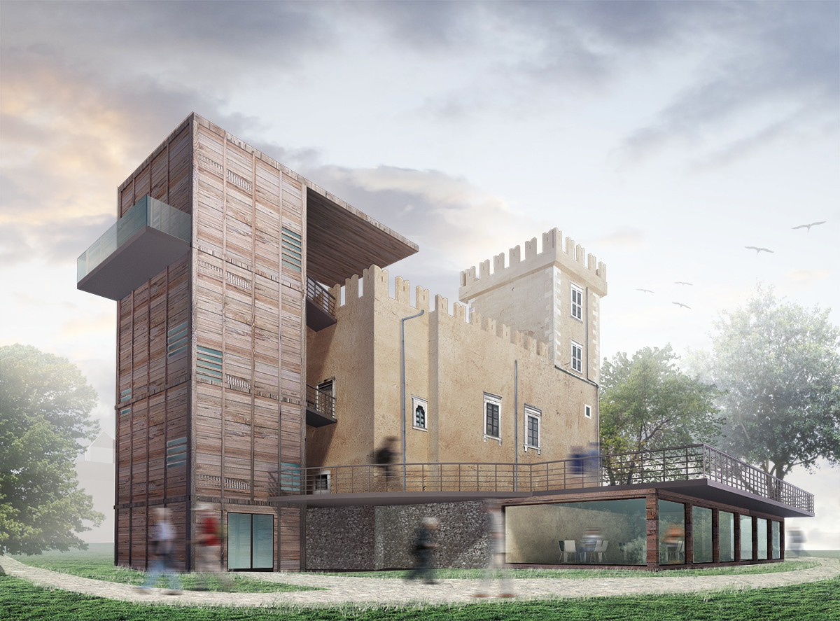 3d visualization of the project in the Reconstruction of Bussi sul Tirino 3d max, render vray 2.0 of Liudmila Piskareva