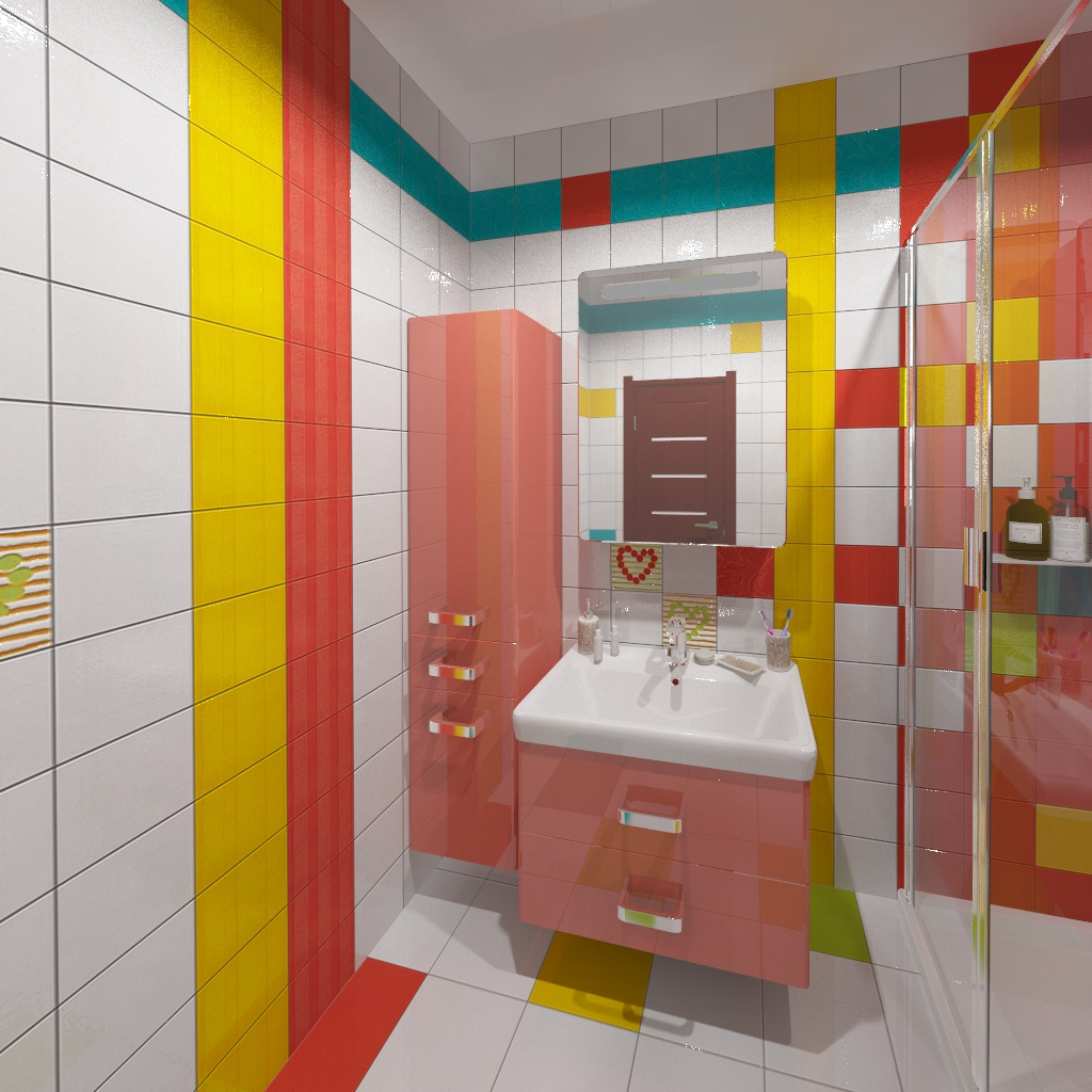 Bright bathroom. in 3d max vray 2.5 image