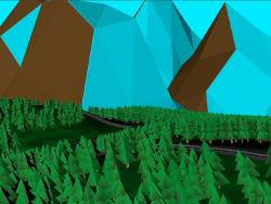 Low poly scene.