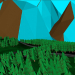 Low poly scene. in Cinema 4d Thea render image