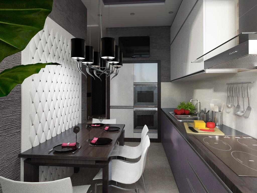 Гостиная-Кухня. Зонирование пространства в 3d max vray изображение