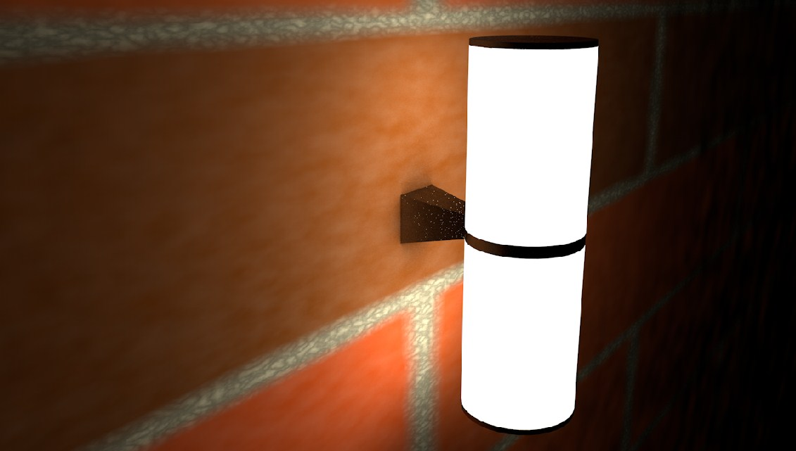 Lamp. in Cinema 4d Thea render image