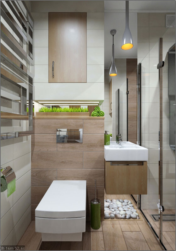 Interior design of the guest bathroom in Chernigov. in 3d max vray 1.5 image