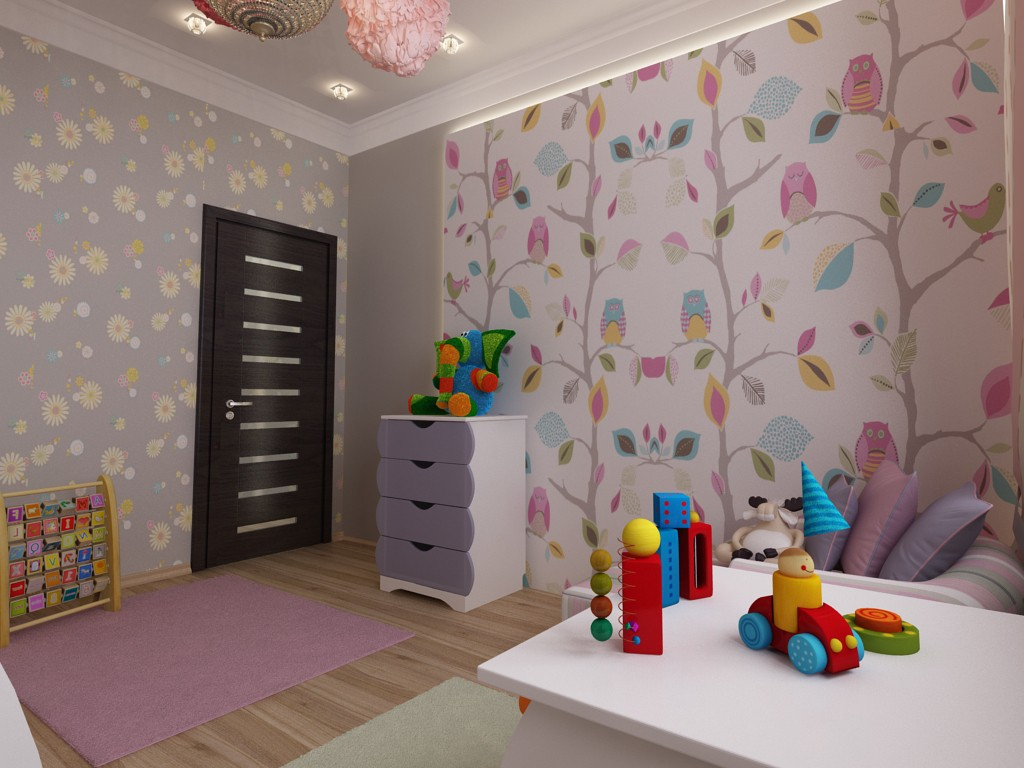 3d visualization of the project in the nursery 3d max, render vray of Elena_Design