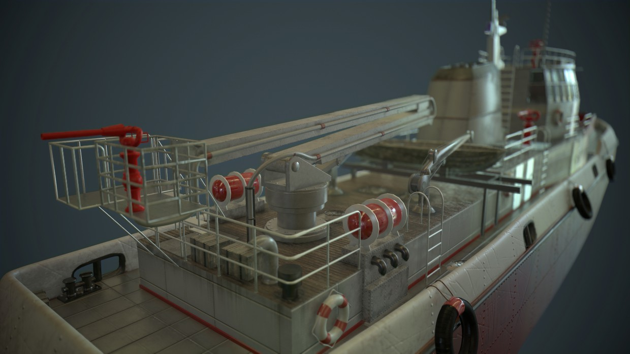 Fire ship  in  3d max   Other  image