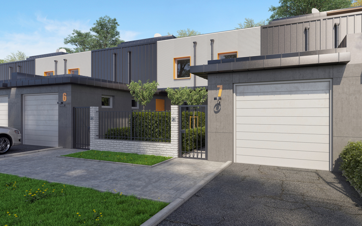 Townhouse (smart) in 3d max corona render image