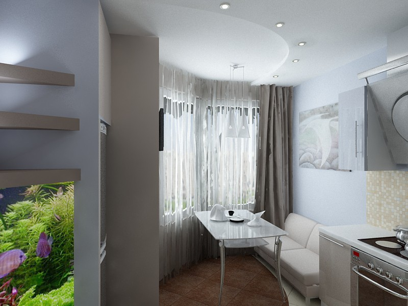 Зонирование в однокомнатной квартире в 3d max vray изображение