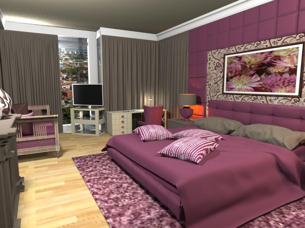 visualización 3D del proyecto en el Dormitorio Otra cosa render Other LessWeek