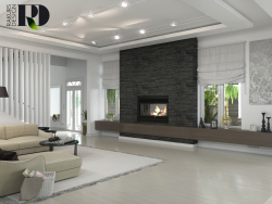 Living room in white