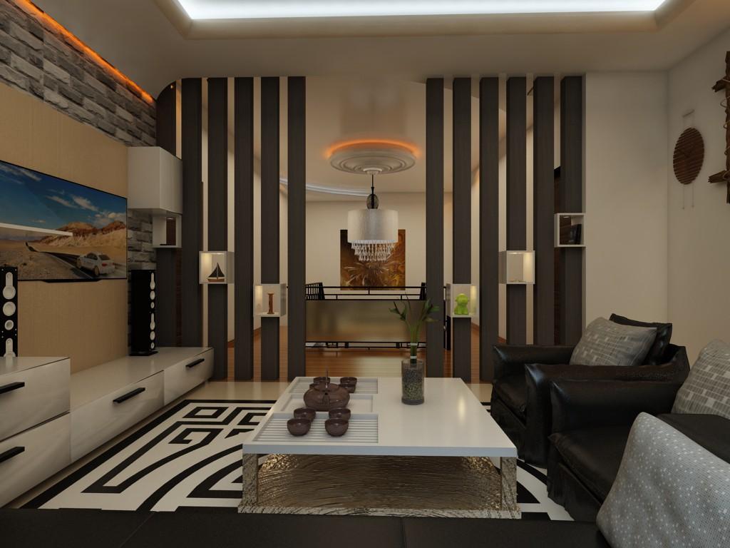 3d візуалізація проекту вітальня в 3d max, рендер vray 3.0 від harirahul