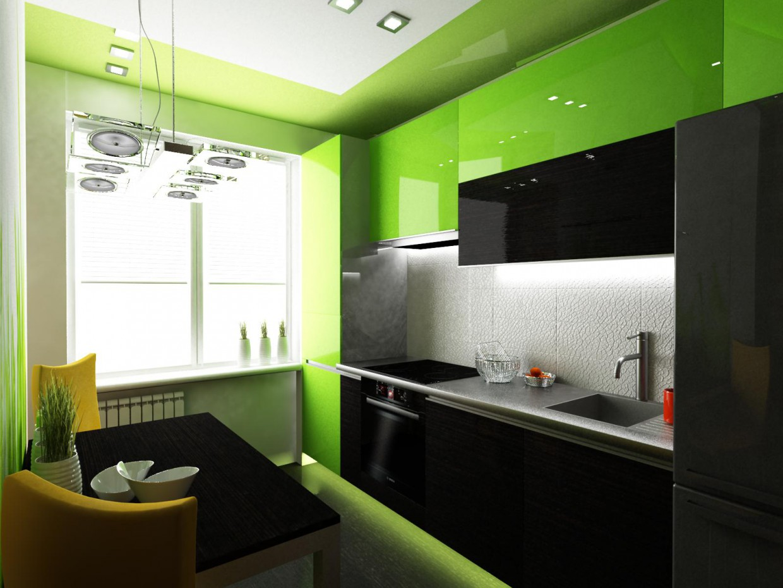 Подвесная кухня в 3d max vray изображение