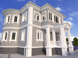The project of the house in the classical style